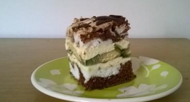 Zdjęcie przedstawia kawałek ciasta Oczy Carycy na talerzyku