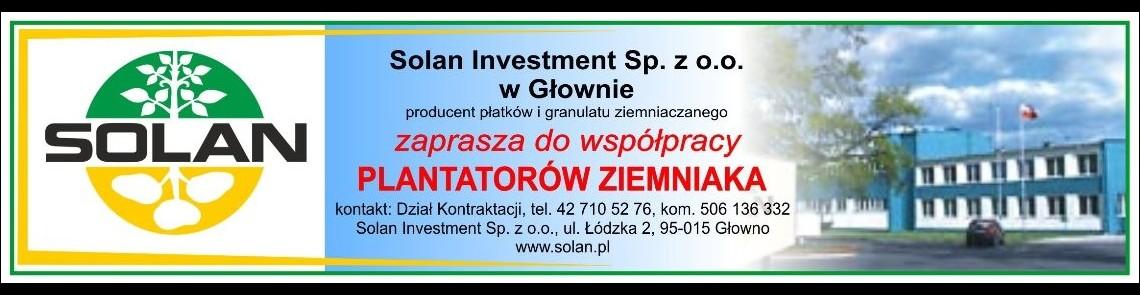 SOLAN - Producent Granulatu Ziemniaczanego i Płatków Ziemniaczanych